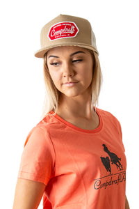 Womens Peach CampdraftAus T-Shirt