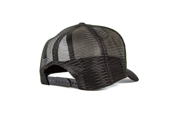 Matte Black Vintage Cotton Trucker Cap