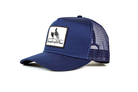 Wholesale CampdraftAus Navy Vintage Cotton Trucker Cap (RRP $29.99)