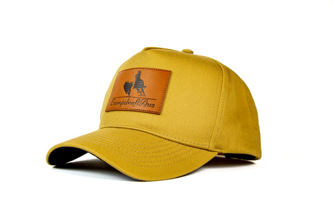 Wholesale CampdraftAus Khaki/Leather Patch Cap (RRP $29.99)
