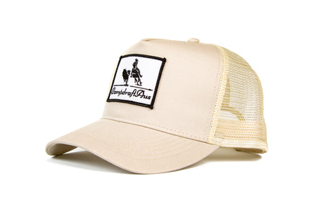 Wholesale Cream Vintage Cotton Trucker Cap (RRP $29.99)