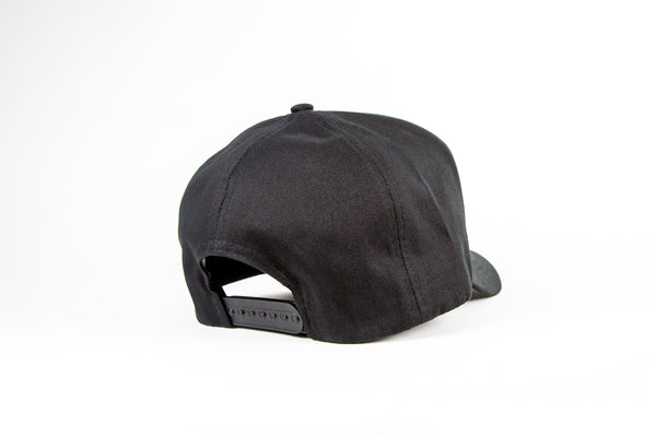 CampdraftAus Black/Leather Patch Cap