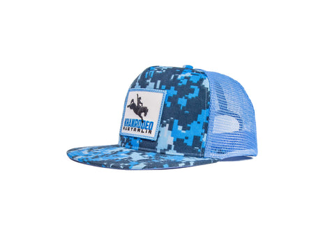 Wholesale Khan Rodeo Blue Camo Trucker Cap (RRP $39.99)