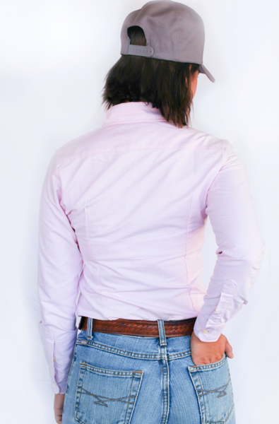 Light Pink Oxford Cotton Long Sleeve Shirt