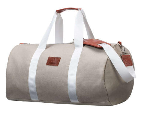 Cream Canvas Weekender Bag