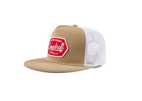 Wholesale CampdraftAus Sand 5 Panel Trucker Cap (RRP $39.99)