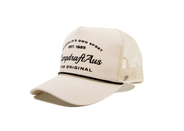 Classic Cream Retro Trucker Cap