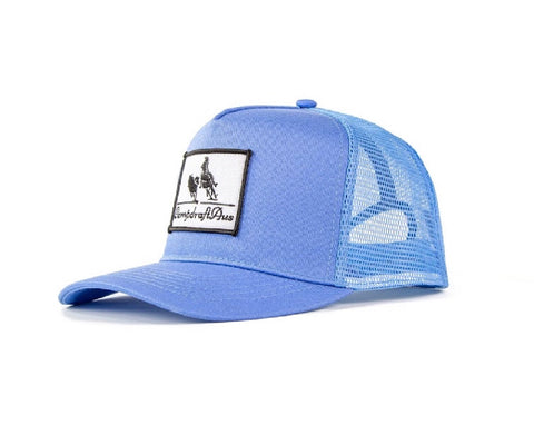 Wholesale CampdraftAus Sky Blue Vintage Cotton Trucker Cap (RRP $29.99)