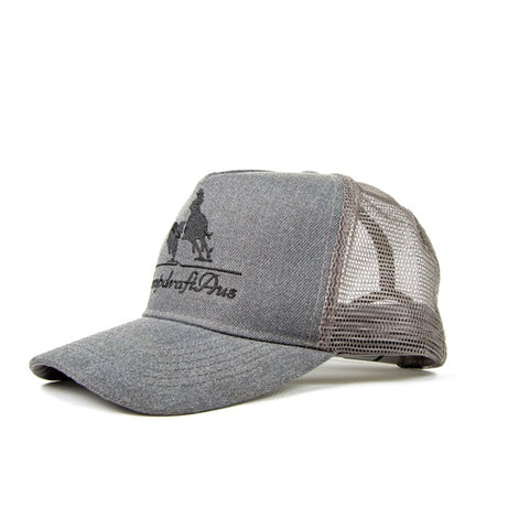 Wholesale Steel Grey Embroidered CampdraftAus Trucker Cap (RRP $29.99)