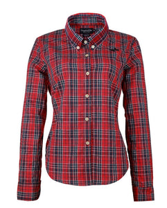 Red/Blue Plaid Long Sleeve Ladies Shirt (size 6 only)