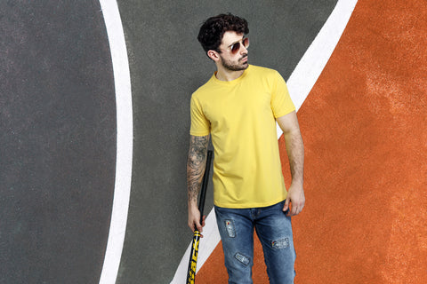Yellow Casual t-shirt for Men