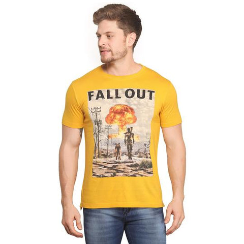 Yellow Graphic t-shirt for Men