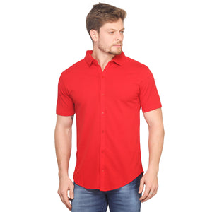 Red Half Sleeves Shirt