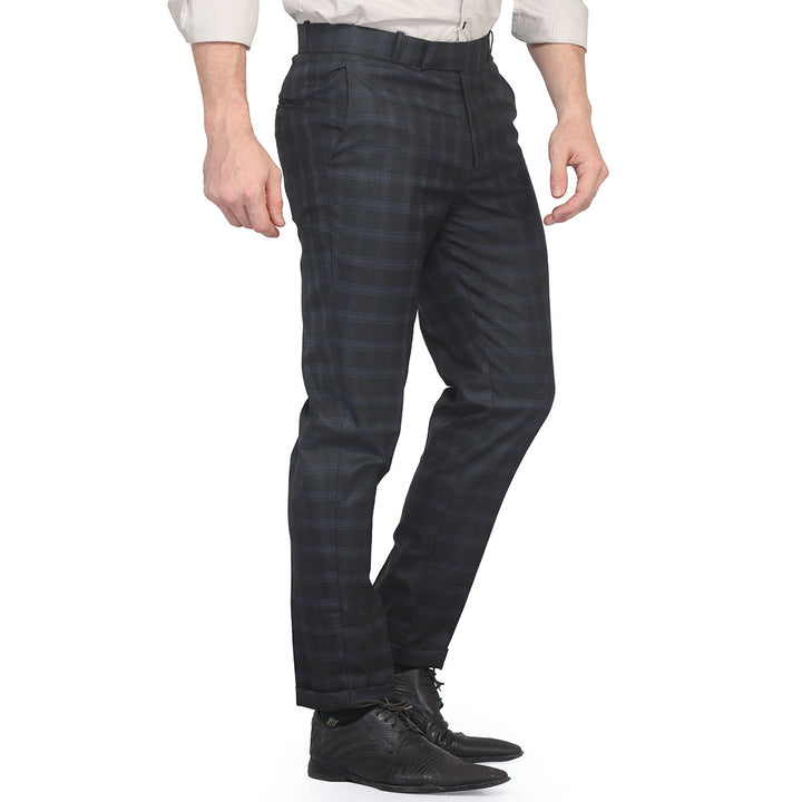Black Grid Checks Trouser