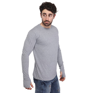 Grey Thumbhole T-Shirt