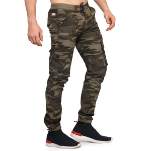 Cocoa Brown Camouflage Joggers