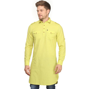 Pista Full Sleeves Long Kurta