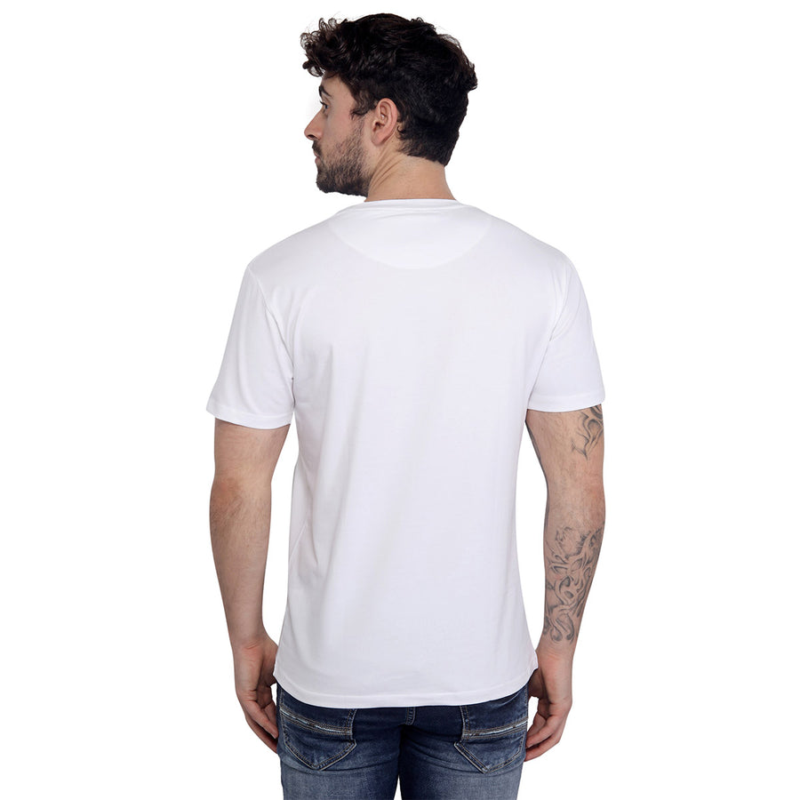 White Plain Half Sleeves T-Shirt