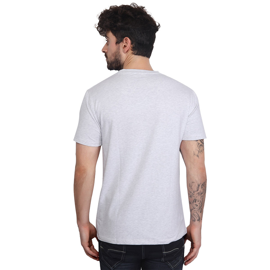 Grey Plain Half Sleeves T-Shirt