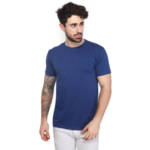 Navy Blue Plain Half Sleeves T-Shirt