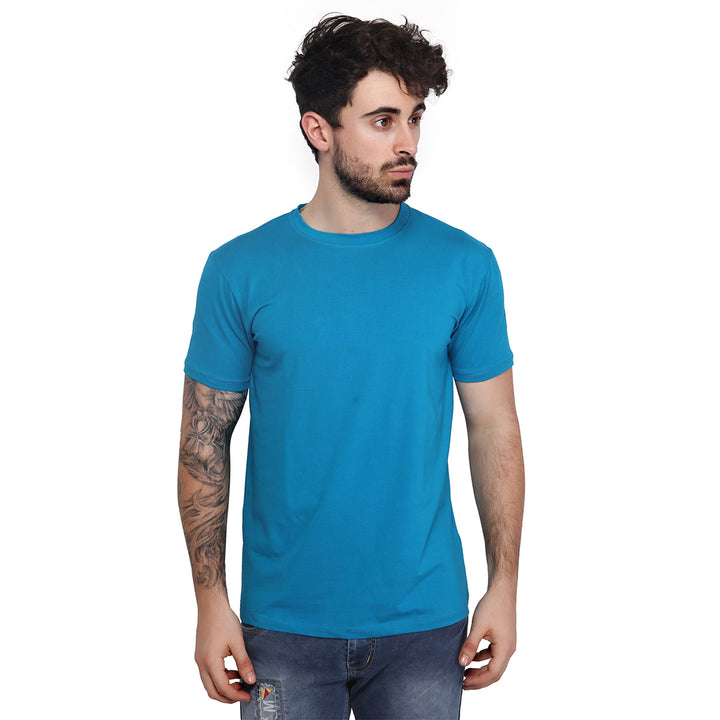 Pelorous Blue Plain Half Sleeves T-Shirt