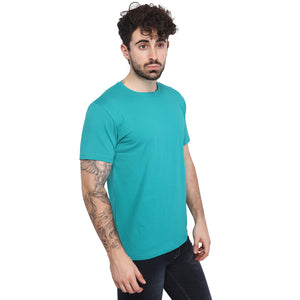 Light Sea Green Plain Half Sleeves T-Shirt