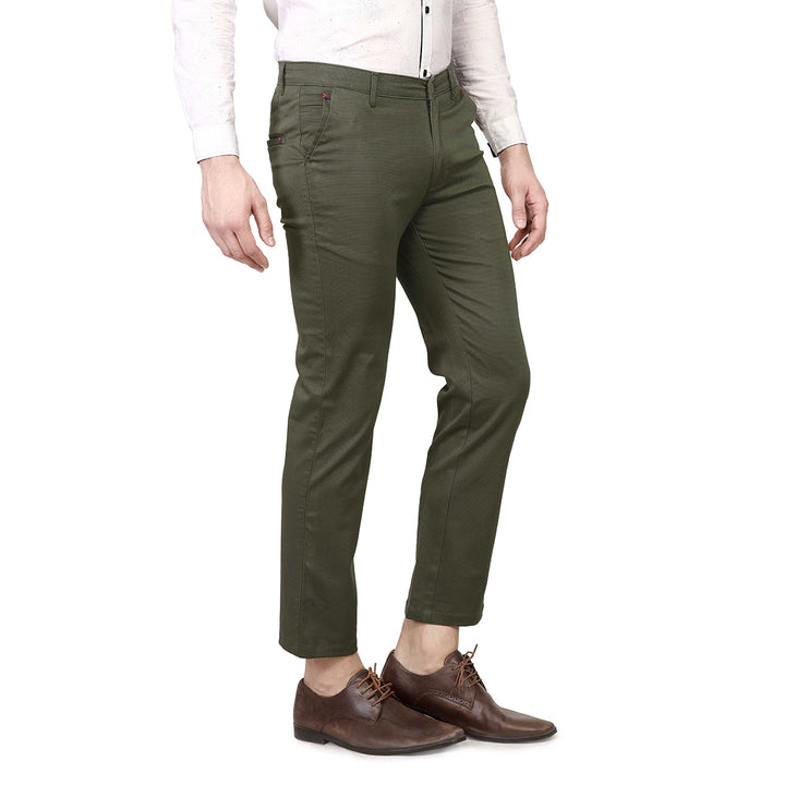 Grey Green Casual Trouser