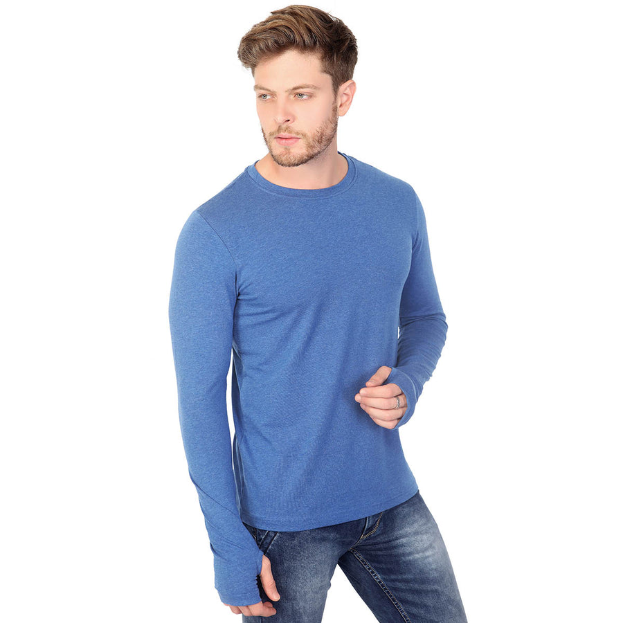 DENIM BLUE THUMBHOLE T-SHIRT