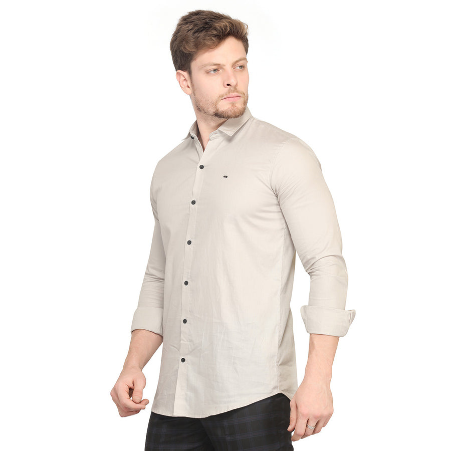 Cement Grey Full Sleeves Shirt