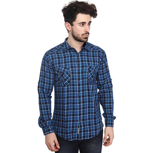 Blue Checkered Full Sleeves Shirt