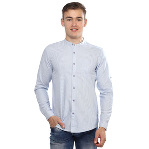 Blue Striped Full Sleeves Shirt