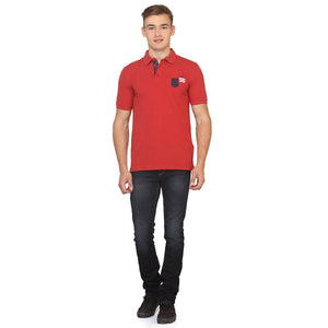 Red Polo Half Sleeves T-Shirt