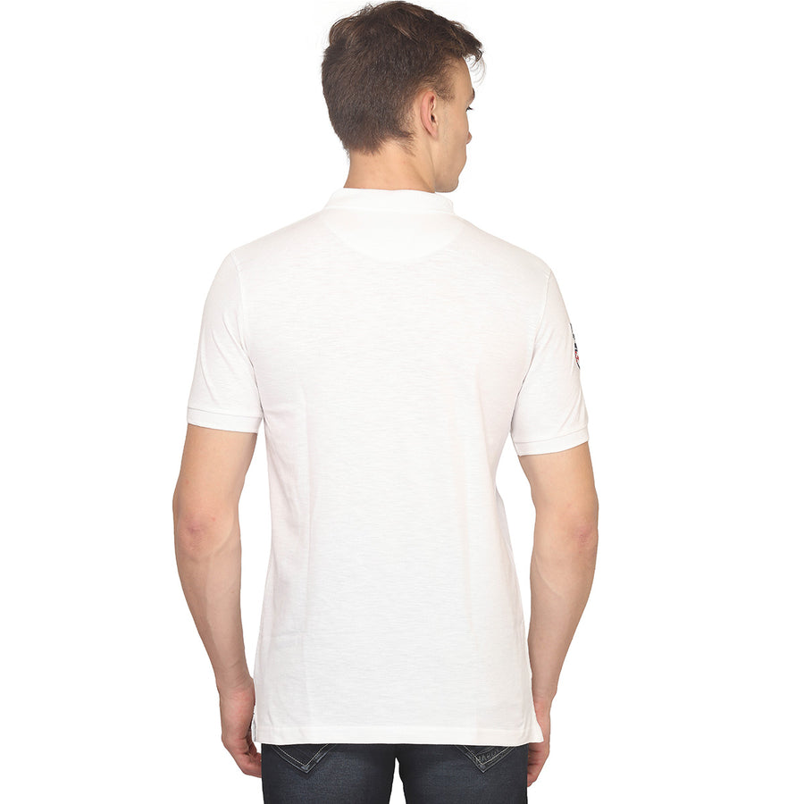 White Polo Half Sleeves T-Shirt