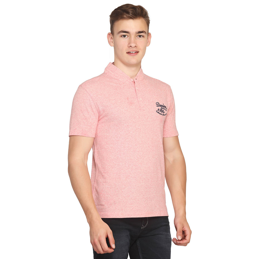 Oyster Pink Polo Half Sleeves T-Shirt