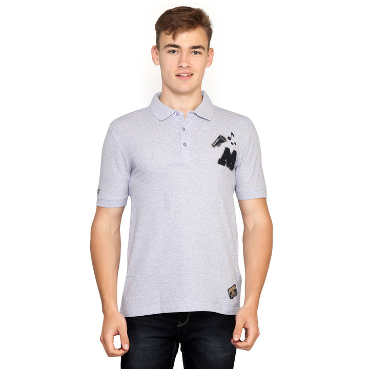 Ghost Blue Polo Half Sleeves T-Shirt