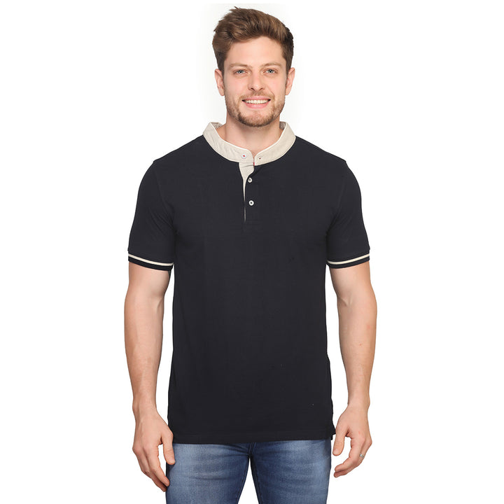 Navy Blue Polo Half Sleeves T-Shirt