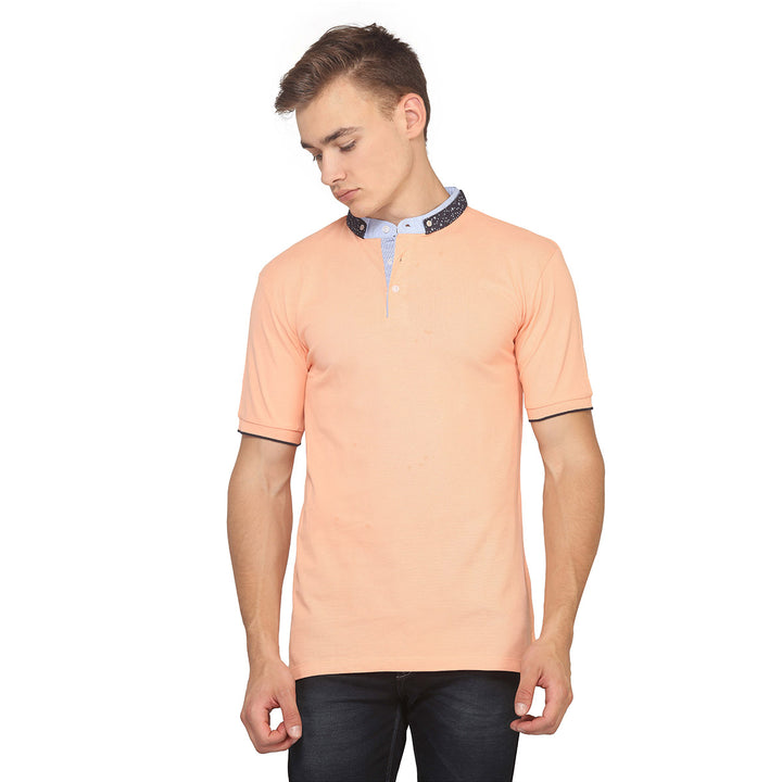 Orange Polo Half Sleeves T-Shirt
