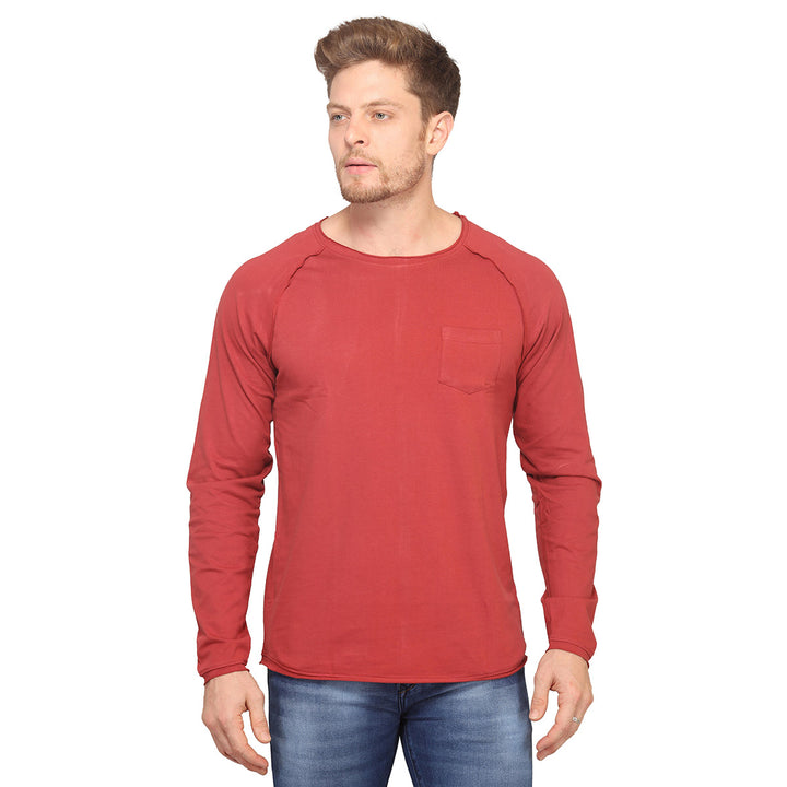 Red Full Sleeves T-Shirt