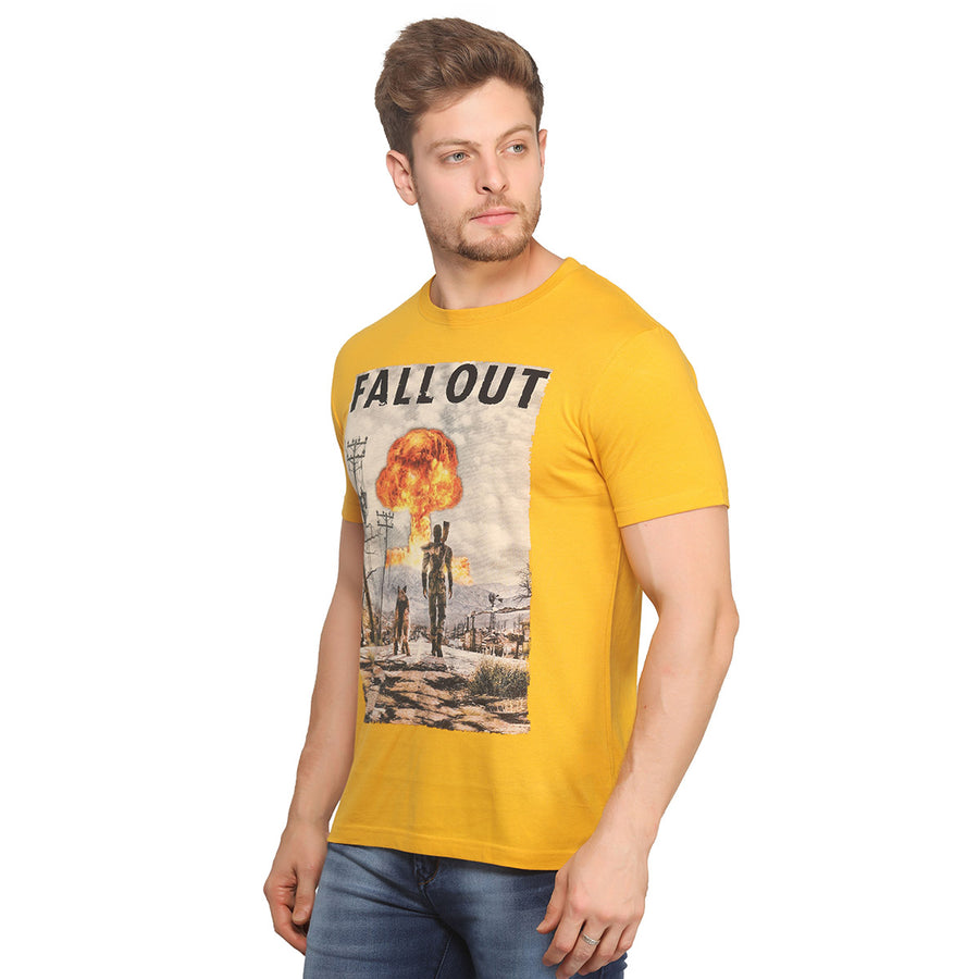 Fall Out Half Sleeves T-Shirt