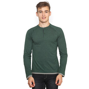 Dark Green Full Sleeves T-Shirt