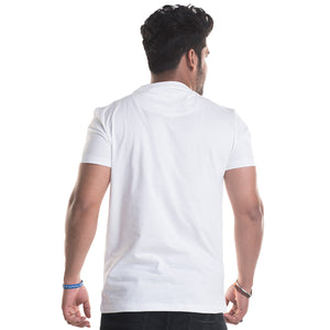 Thug Life Printed White Half Sleeves T-Shirt
