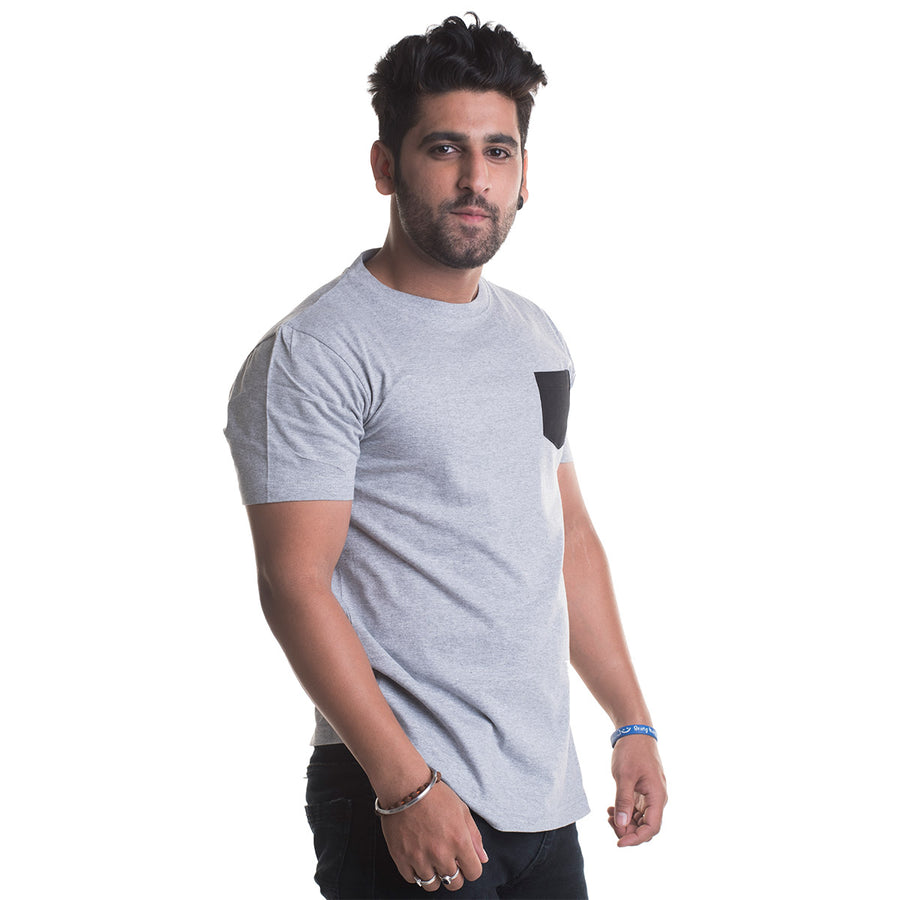 Plain Grey Half Sleeves T-Shirt