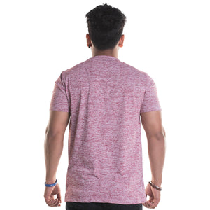 Slub Maroon Half Sleeves T-Shirt