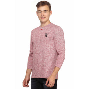Slub Maroon Full Sleeves T-Shirt