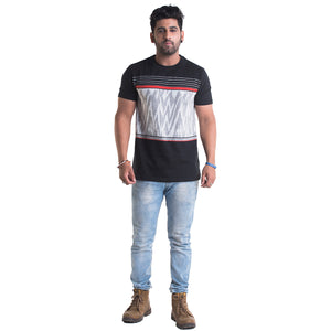Striped Red Half Sleeves T-Shirt