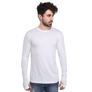 White Thumbhole T-Shirt