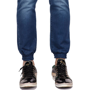 Midnight Blue Denim Joggers