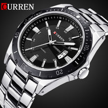 sampurchase 2016 CURREN NEW Fashion Men Sports Watches Quartz Date Clock Man Watch Men's Casual Full Stainless Steel Casual Wrist Watch