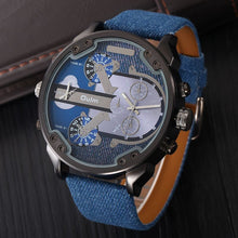 sampurchase Oulm Exaggerated Large Big Watches Men Luxury Brand Unique Designer Quartz Watch Male Heavy Full Steel Leather Strap Wrist Watch