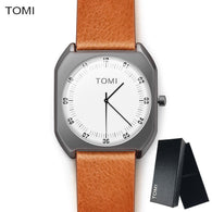 sampurchase TOMI Brand Simple Ultra Thin dial Casual Male Quartz Man Watch Wristwatch Gift
